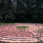 The walking labyrinth at the Whidbey Institute.
