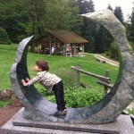 My son feeling the crescent balance
