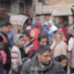 GoPro mounted in Asan Tole, downtown Kathmandu