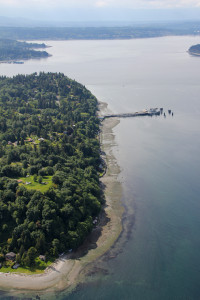 `Vashon Ferry Dock from the air
