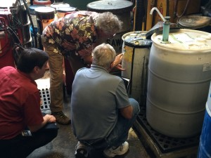 Inspecting Chemicals On City of Seattle Vehicle Fleet Maintenance Facility Tour