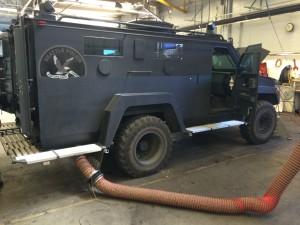 Inspecting SWAT Team Vehicle on City of Seattle Vehicle Fleet