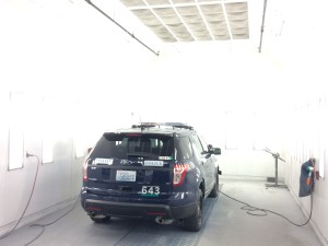 Vehicle Painting Facility on City of Seattle Vehicle Fleet Maintenance Facility Tour