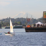 On The Solar Pioneer Floating Protest Barge at Shell No! Campaign in Seattle