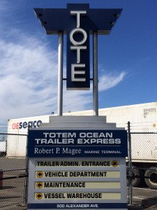 Tote owns and operates two ships weekly between Tacoma and Anchorage AK.
