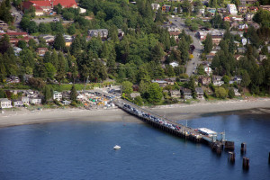 Cars loading at the West Seattle ferry dock
