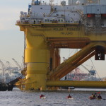 Kayaktivists Own Mega Monster Shell Oil Polar Pionneer Rig Heading for Alaska