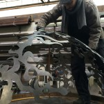 Seattle Artist Jonathan Clarren Assembling a Metal Sculpture