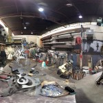 Metal Studio Panorama in Fenpro Building in Ballard, Seattle