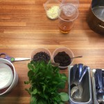 Preprepped ingredients for recipe