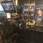 SPUR Gastropub Bartender preparing cocktail during Star Chefs video demo sponsored by Vitamix