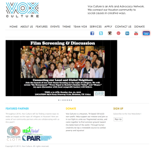 Vox Culture, Houston based arts and advocacy nonprofit opening yearlong refugee focus with Pangeality Productions video about Seattle refugee population